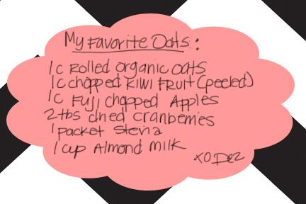 recipe card rolled oats